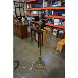 VINTAGE METAL TORCHIERE FLOOR LAMP