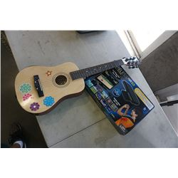 FIRST ACT GUITAR AND WIRELESS AIR GAME SYSTEM, 60 BUILT IN GAMES