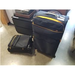 LUCAS BLACK AND YELLOW 2 PIECE LUGGAGE SET