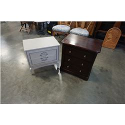 MODERN AND WHITE END TABLES