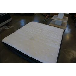AS NEW KING SIZE SEALY POSTERPEDIC PRO BACK CROWN JEWEL LUXE EUROTOP MEDIUM FIRM MATTRESS