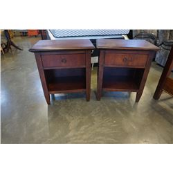 PAIR OF 1 DRAWER HOOKER FURNITURE NIGHTSTANDS