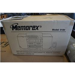 MEMOREX HI FI STEREO SYSTEM MODEL 9184 W/ REMOTE IN BOX
