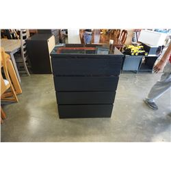 4 DRAWER IKEA ESPRESSO CHEST OF DRAWERS