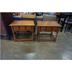PAIR OF 1 DRAWER VILAS MAPLE NIGHTSTANDS