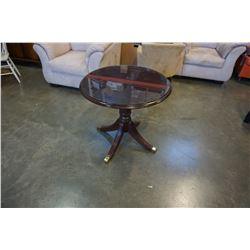 FLEETWOOD FURNITURE GLASSTOP PARLOUR TABLE