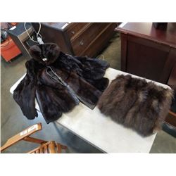 VICTORIAN FUR MUFF AND EASTONS FUR COAT