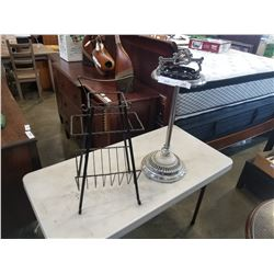 MCM ASH TRAY STAND AND WIRE MAGAZINE RACK