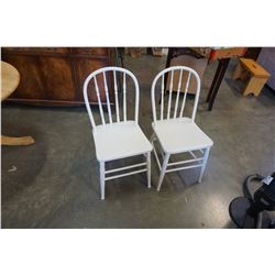 2 PAINTED HOOP BACK CHAIRS