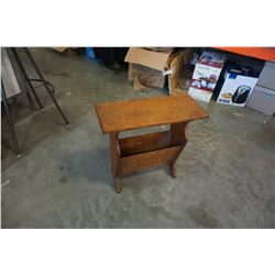 SMALL STOOL AND MAGAZINE RACK TABLE
