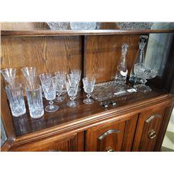 CRYSTAL GLASSES, STUDIO NOVA DECANTERS