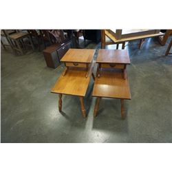 PAIR OF VILAS MAPLE STEP END TABLES
