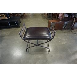 METAL DECORATIVE LEATHER BENCH