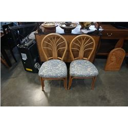 2 BENT WOOD CHAIRS