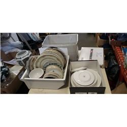 CHINA PLATES, APPLE SHAPED PLATES AND CUPS, AND ROYAL ALBERT CAPRI DISHES