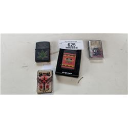4 LIGHTERS, ZIPPO AND OTHER