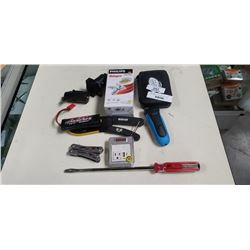 A&W Auto Set, tool, bbq lighter, trailer hookup and more