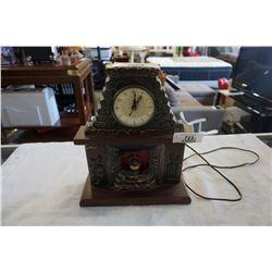 VINTAGE ELECTRIC FIREPLACE CLOCK