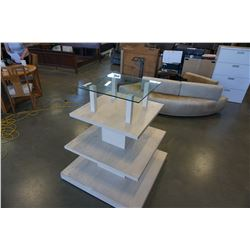 ROLLING DISPLAY STAND WITH GLASS TOP