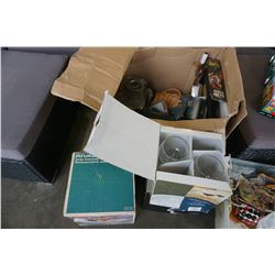 BOX OF TOOLS, SALTON DRINK MIXER, LEARNING DEVICE