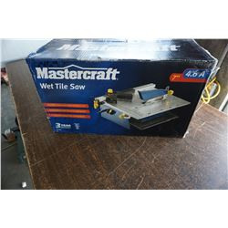 IN BOX MASTERCRAFT 7 INCH WET TILE SAW