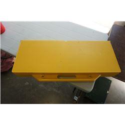 YELLOW FOLDING PICNIC TABLE