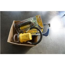 NEW IRWIN HACK SAW, NEW GREASE GUN, AND WORK LIGHT