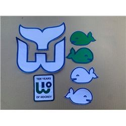 Lot of rare Hartford whalers nhl crests and patches