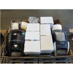 2 BROTHER LABEL PRINTERS AND LABELS, MODEL QL-700 AND QL-570