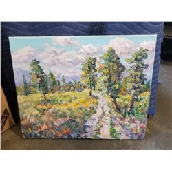ORIGINAL PAINTING BY OTTO JEGODTKA, SUMMER MEADOW