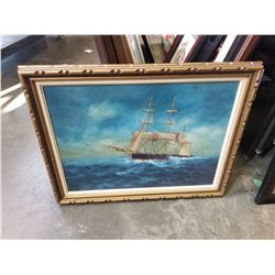 SHIP PAINTING ON CANVAS