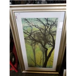 SWAMPY HOLLOW TREE PRINT, AUSTRALIAN PRINT AND 2 OTHER PRINTS