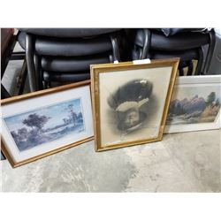 LOT OF PICTURES AND PAINTINGS