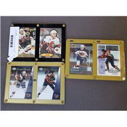 6 HOCKEY CARDS, ROOKIE CARDS, ROOKIE UPDATES 2 DANY HEATLEY, 2 ILYA KOVALCHUK AND 2 DANIEL ALFREDSSO
