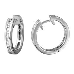 1.25 CTW Diamond Earrings 14K White Gold - REF-147W9H