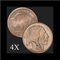 5 oz Buffalo .999 Fine Copper Bullion Round