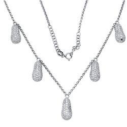 2.24 CTW Diamond Necklace 18K White Gold - REF-137W9H