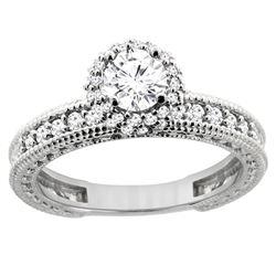 0.75 CTW Diamond Ring 14K White Gold - REF-120H4M