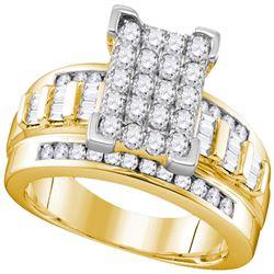 2 CTW Round Diamond Bridal Wedding Engagement Ring 10kt Yellow Gold - REF-106N8Y
