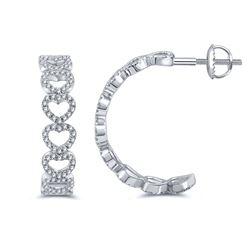 0.28 CTW Diamond Earrings 14K Rose Gold - REF-25X5R