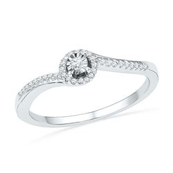 1/6 CTW Round Diamond Solitaire Bridal Wedding Engagement Ring 10kt White Gold - REF-15N5Y