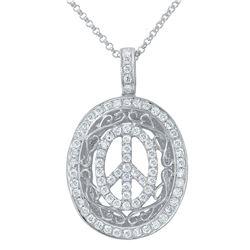 0.65 CTW Diamond Necklace 14K White Gold - REF-46F4N