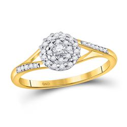 1/5 CTW Round Diamond Solitaire Promise Bridal Ring 10kt Yellow Gold - REF-18T3K