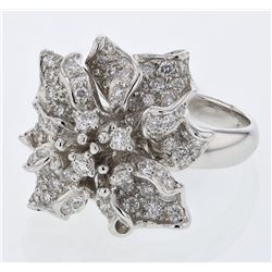 2.12 CTW Diamond Ring 18K White Gold - REF-254H2M