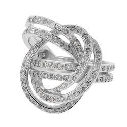 0.83 CTW Diamond Ring 14K White Gold - REF-81W5H