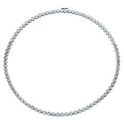 4.8 CTW Diamond Necklace 14K White Gold - REF-448M3F