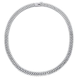 3.85 CTW Diamond Necklace 18K White Gold - REF-892W5H