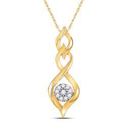1/10 CTW Round Diamond Infinity Pendant 10kt Yellow Gold - REF-10K8R