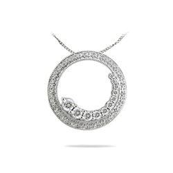 0.50 CTW Diamond Necklace 14K White Gold - REF-52W2H