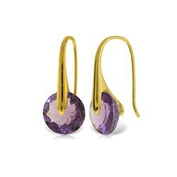 Genuine 11.50 ctw Amethyst Earrings 14KT Yellow Gold - REF-74K6V